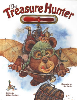 'The Treasure Hunter'  The story of a little bear who goes treasure hunting… with a friend.  Children's fantasy illustrations by Jim Harris.