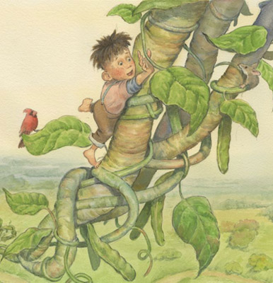 'Jacques' from Jacques and de Beanstalk, a Cajun fairy tale illustrated by Jim Harris.