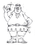 ... Coloring Page of the giant from a Jack and the Beanstalk fairy tale