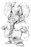 'Esther the Elephant'  Coloring Page of an elephant
