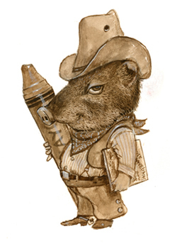 Jim Harris… in a very early stage of becoming a children's book illustrator.  No wonder he's so good at illustrating javelinas!